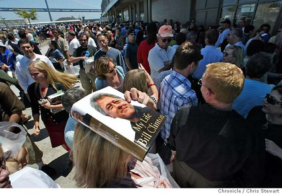 Event on 6/29/04 in San Francisco Former President Bill Clinton autographed his long-awaited book about his presidency today at Book Passage book store in the Ferry Building. The event drew a huge crowd of admirers. Chris Stewart / The Chronicle Photo: Chris Stewart