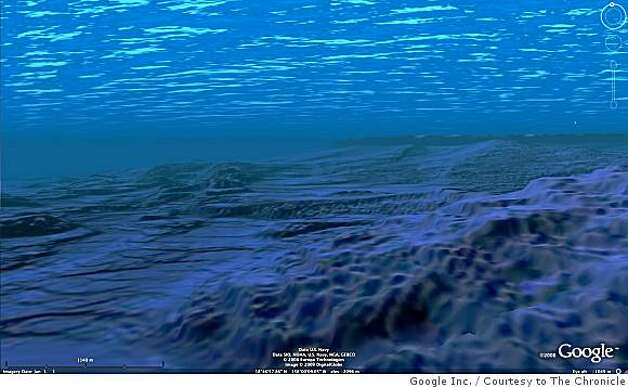 Google Map Looks into the Sea.Image.jpg.