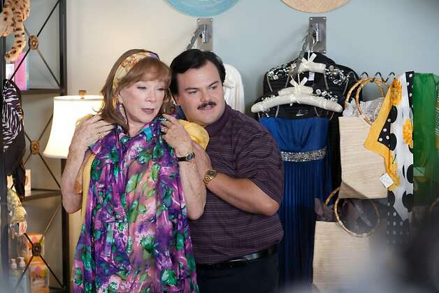 Shirley MacLaine as ÒMarjorie NugentÓ and Jack Black as ÒBernie TiedeÓ in BERNIE. Photo: Millennium Entertainment / SF