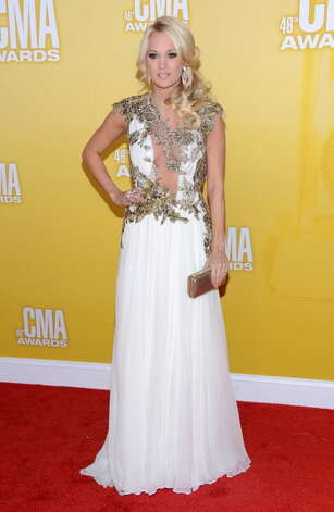 Country music artist Carrie Underwood attends the 46th annual CMA Awards at the Bridgestone Arena on November 1, 2012 in Nashville, Tennessee. Photo: Jason Kempin, Getty Images / 2012 Getty Images