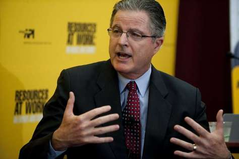 John Watson, CEO of the Chevron Corporation, speaks during an energy summit in Washington, D.C., in 2011. Photo: Saul Loeb, AFP/Getty Images