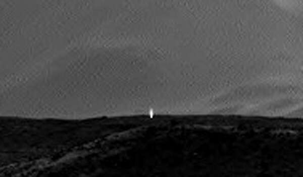 A NASA camera on Mars has captured what appears to be artificial light emanating outward from the planet's surface. Photo: NASA.gov Photos