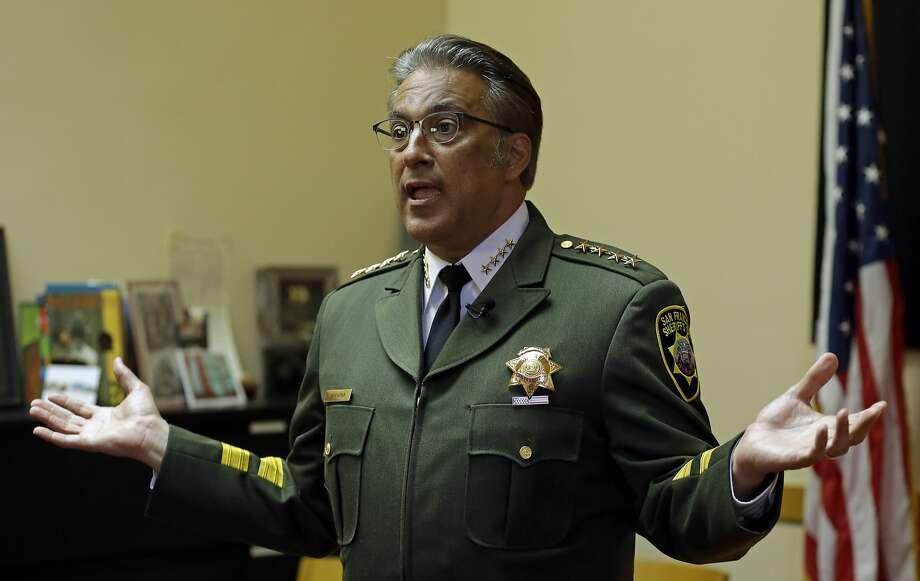 San Francisco Sheriff Ross Mirkarimi gestures during an interview Monday, July 6, 2015, in San Francisco. Photo: Ben Margot, Associated Press