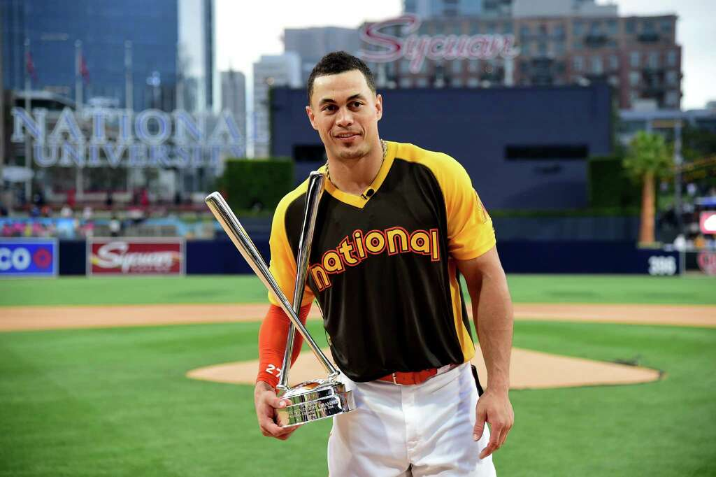 Image result for giancarlo stanton winning home run derby