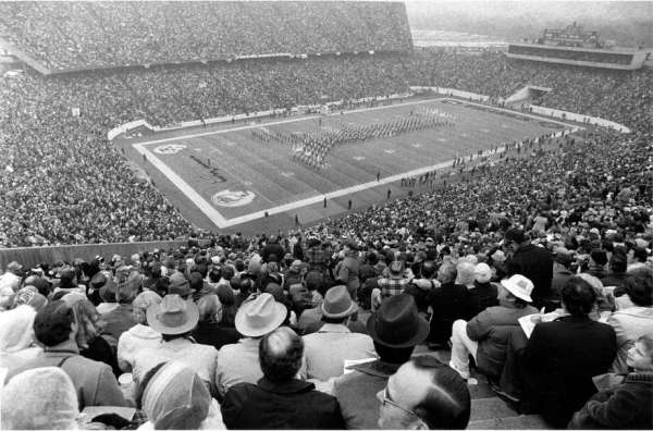 When the Super Bowl first came to Houston and Rice Stadium ...