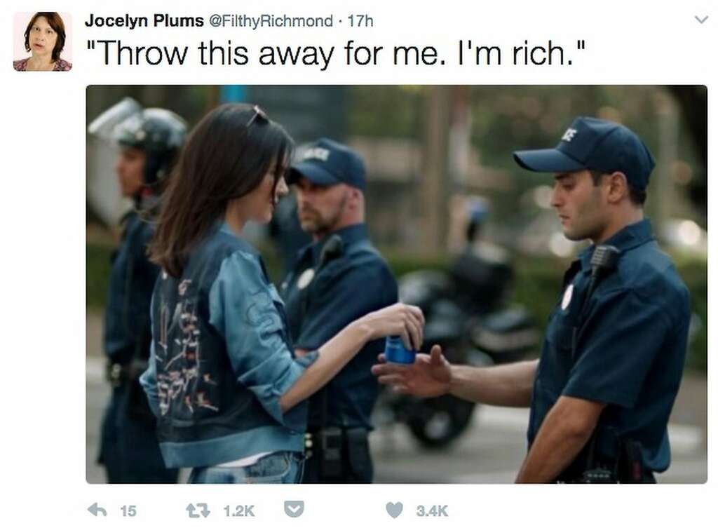 Image result for tweets about Kendall Jenner pepsi Ad