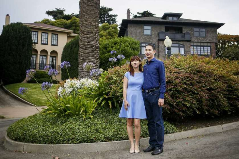 Tina Lam and Michael Cheng have bought Presidio Terrace, a private street lined with expensive homes. Residents apparently had no idea the common spaces were up for sale.