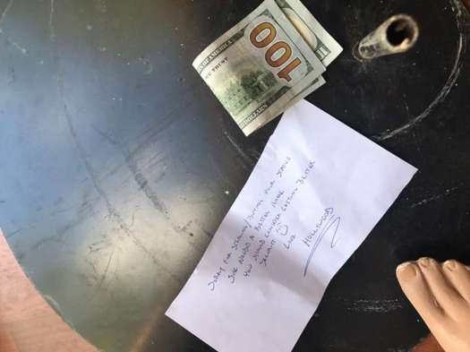 """A mannequin was stolen from a Pleasanton store, but returned several days later with a strange note signed by """"Hollywood."""" Photo: Courtesy Of Kim Gapol"""