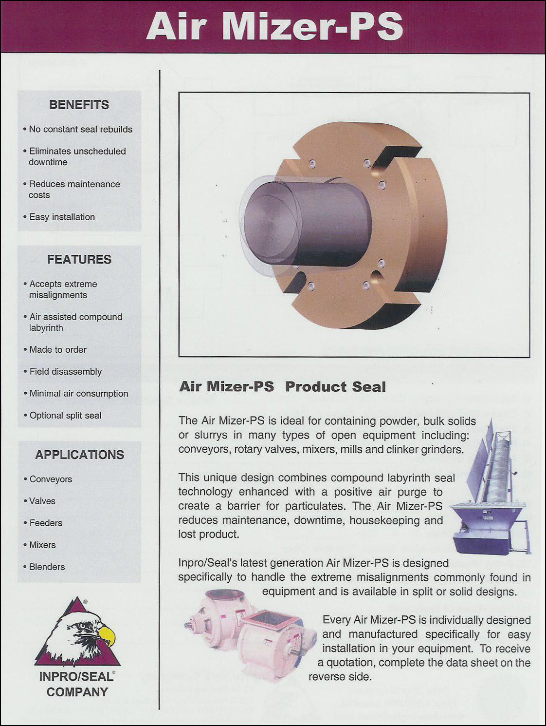 New Conveyor Idler Bearing Isolator From Inpro Seal Increases Productivity Reliability And