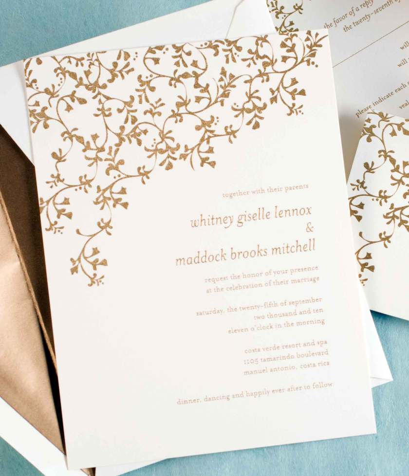 Wedding Paper Divas Logo Thermography Stationery Collection