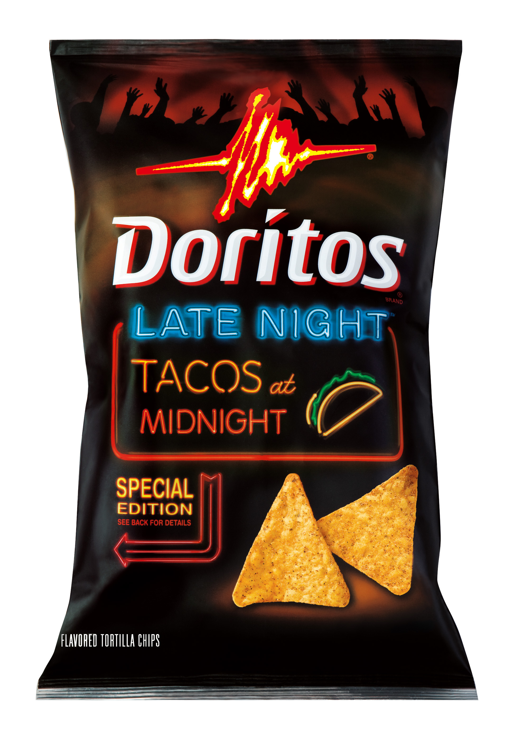 Taco Flavor Doritos Black Bag