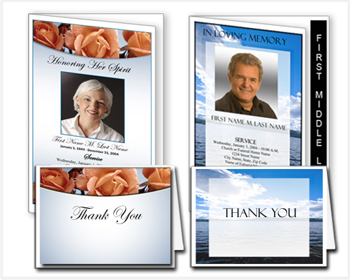 Funeral Program Templates New Layouts And Designs From Elegant Memorials Help You Personalize