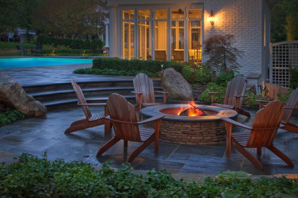 outdoor fire pit patio design ideas New Backyard Landscaping Information Offers Design Ideas