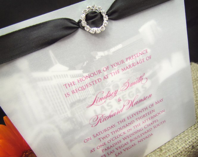 Inspired Vintage Wedding Invitation Four Seasons Las Vegas