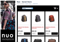 Social Store on Nuo's Facebook Fan Pag