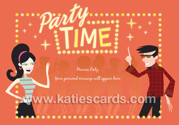 Brand New Groovy Party Invitation Ecard From Katiescards Com