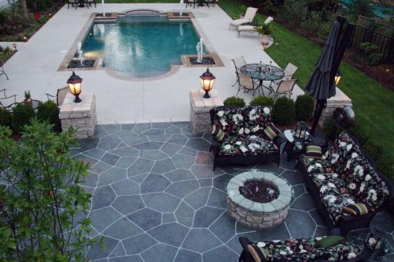 decorative concrete resurfacing in st