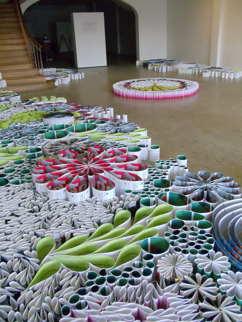 Paper Installation Made Of 10 000 Reused Cards