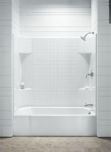 A Selection Of Bathtub Shower Combinations And A Shoppers