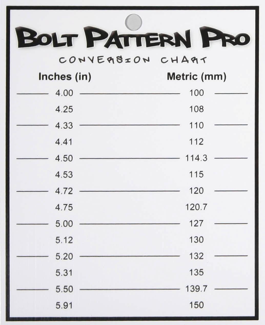 Chevy Bolt Hole Pattern