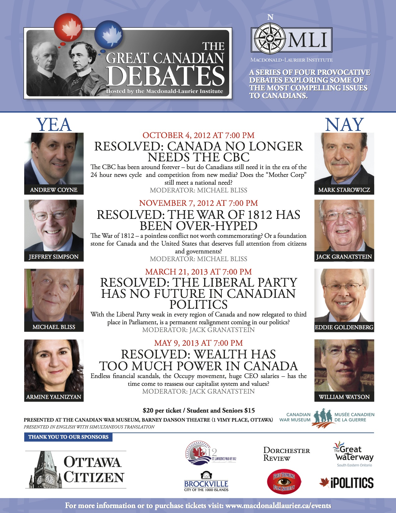 Should We Commemorate The War Of A Debate By The Macdonald Laurier Institute At The War