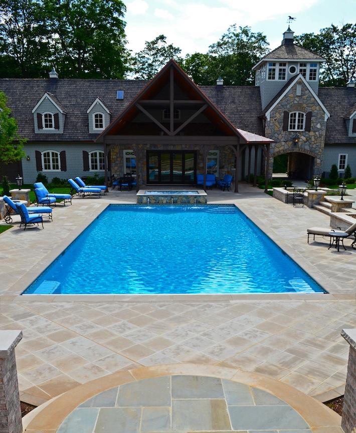 Far Hills NJ Inground Swimming Pool Awarded for Design on Pool Patio Design id=88943