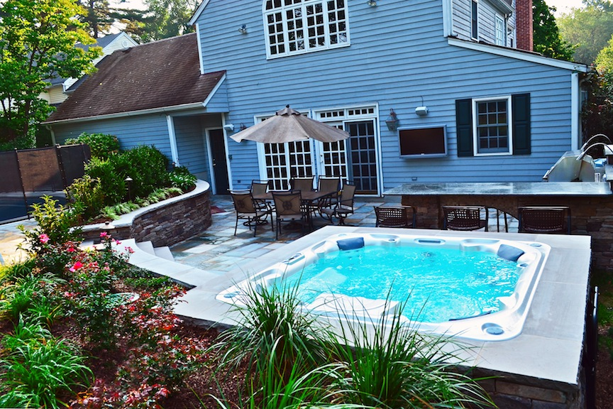 Ridgewood NJ Swimming Pool & Landscaping Renovation Wins Award on Backyard Pool Landscape Designs id=36775
