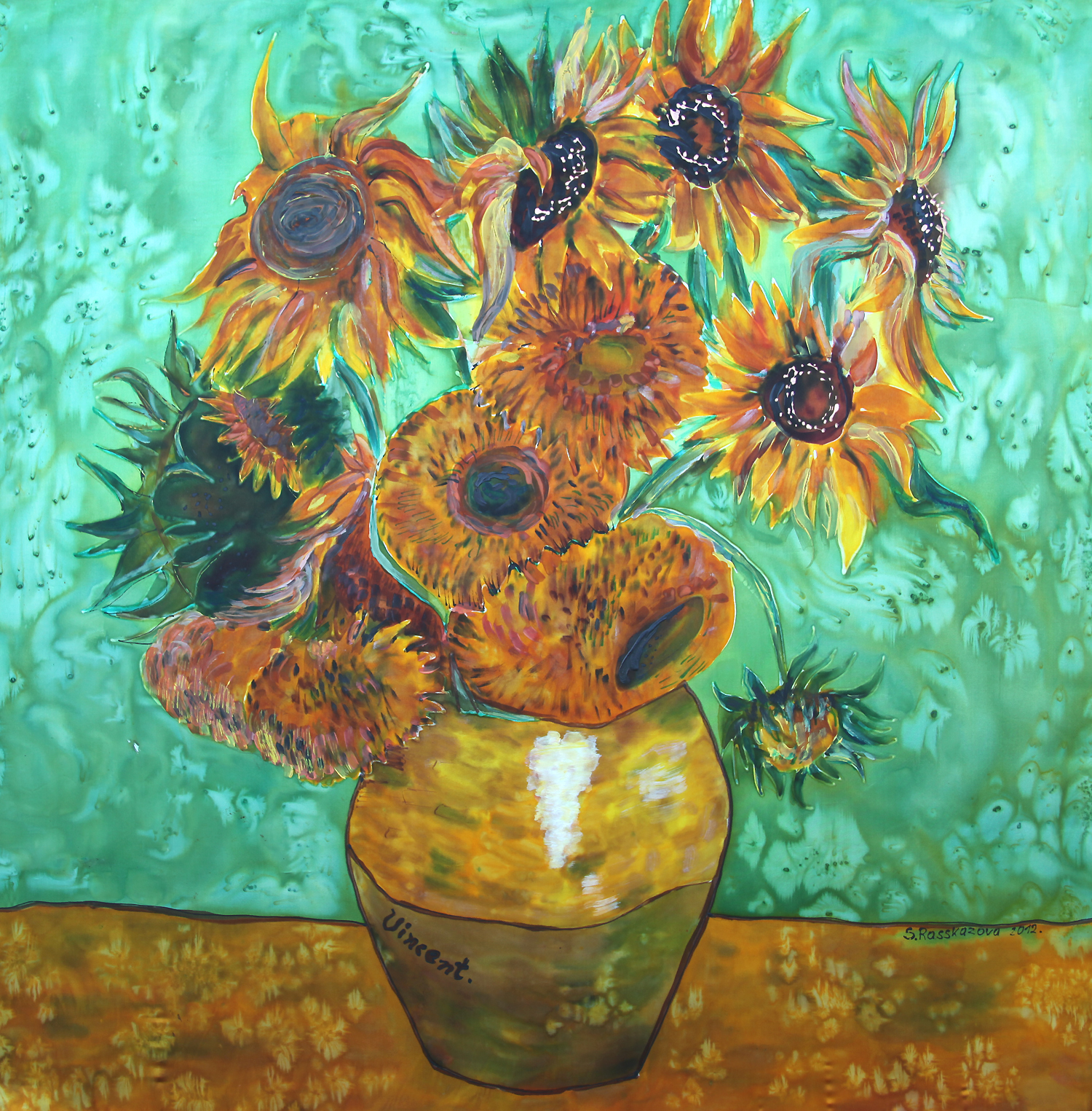 Womenclothingtoday Commemorates The 160th Birthday Of Vincent Van Gogh On Silk