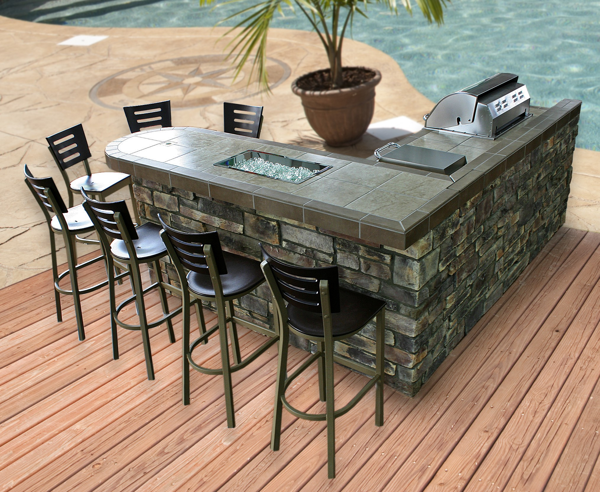 Best in Backyards Announces Newly Remodeled Showroom in ... on Backyard Patio Grill Island id=39495