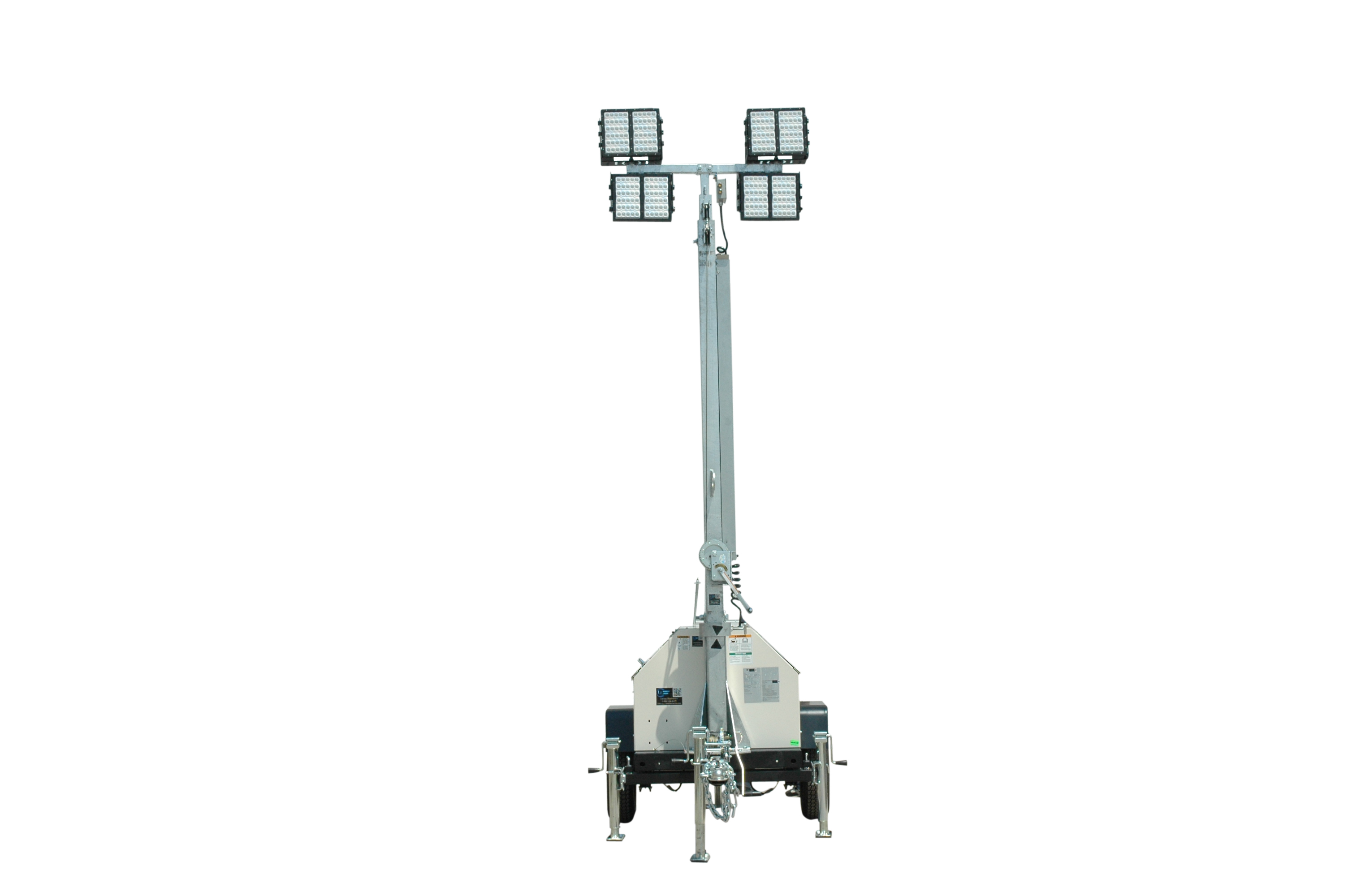 New Mobile Led Light Tower Withsel Powered Generator From Larson Electronics