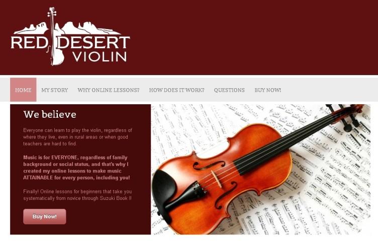 "Violin Lessons For Beginners | ""Red Desert Violin"" Reveals ..."