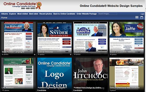 Online Candidate Improves Lite Campaign Website Packages