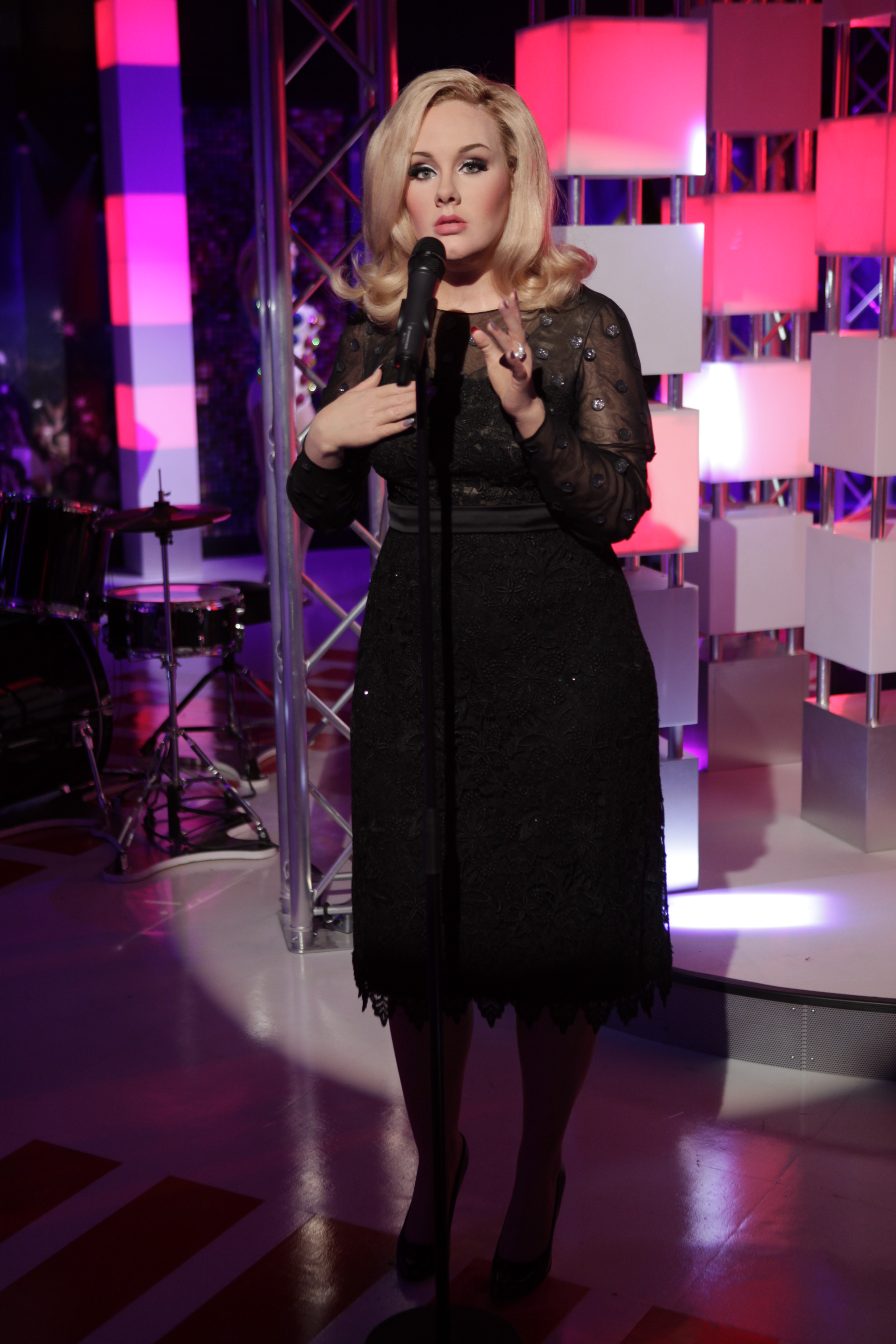 Wax Figure Of Singer Adele Makes Highly Anticipated US