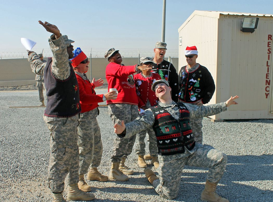 My Ugly Christmas Sweater Thanks Military Personnel By