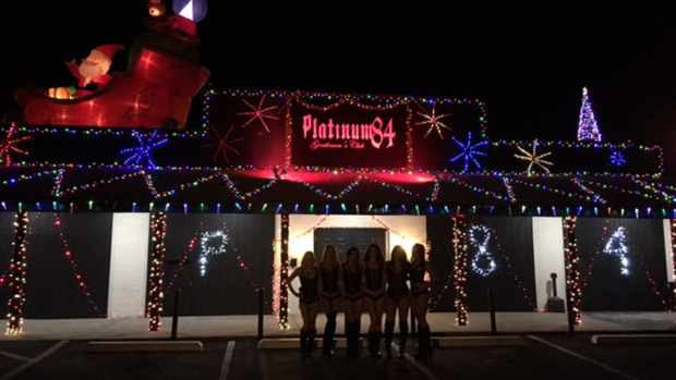 Strip Club Platinum 84 Wins Holiday Lights Contest