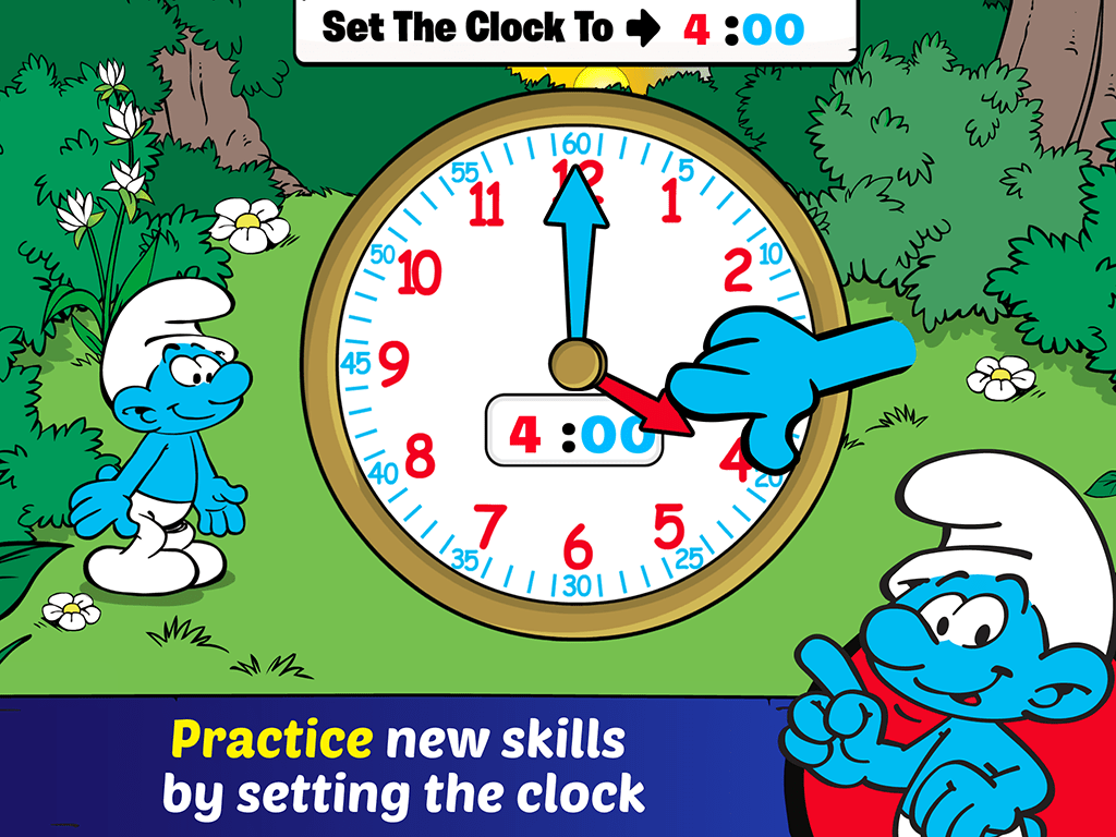 Kids Can Start Telling Time With The Smurfs With A New