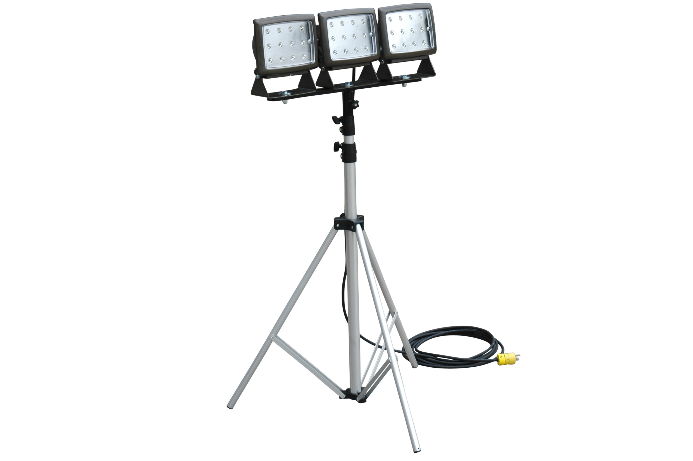 Larson Electronics Releases Triple Headed Portable Led Flood Light On Telescoping Tripod