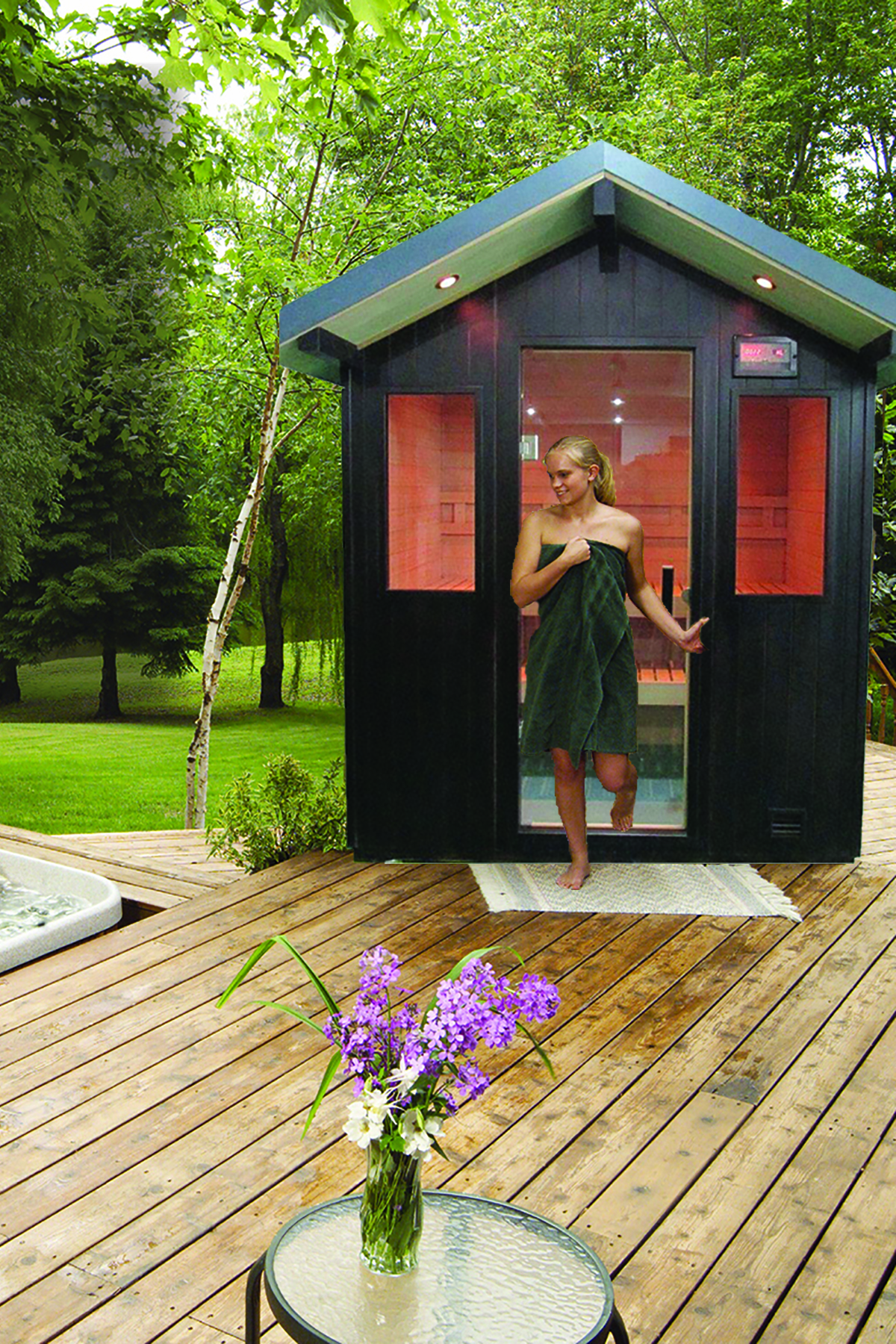 Say Hello To The Brand New Finnleo Terrace Outdoor Saunas