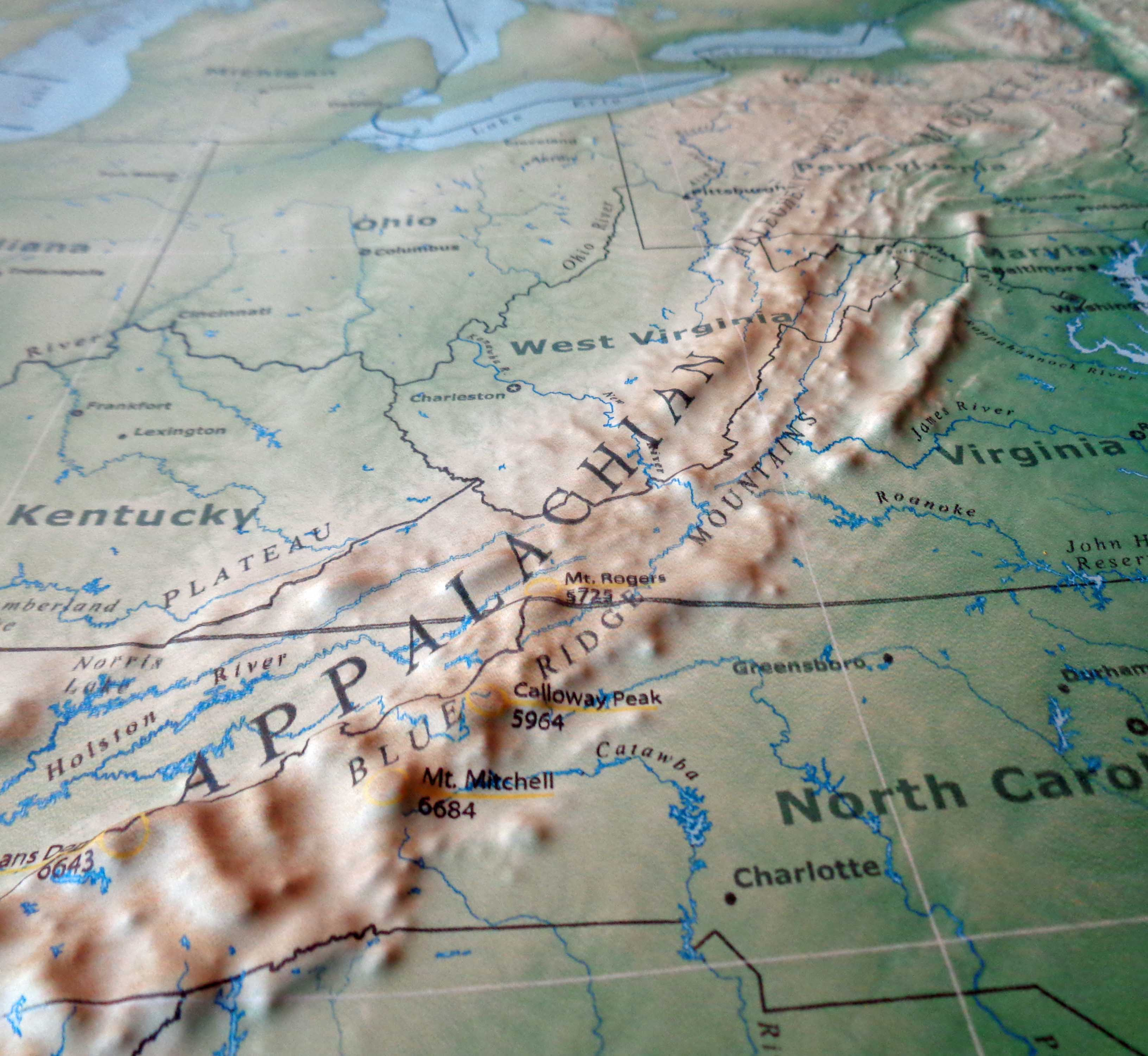 Us Map With Appalachian Mountains - Us-map-with-appalachian-mountains
