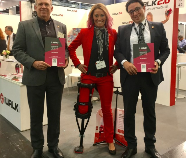Iwalkfree Is Awarded The I Novo Award At The 2016 Medica Trade Show2016 I Novo Award