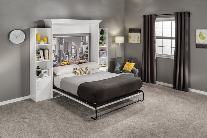 The New Isemble Murphy Bed Hardware With Mattress Platform Kits From Rockler Are Available In Vertical Or Horizontal Mount Twin Full And Queen Sizes