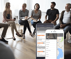 Browse meetings in the area, connect with others, and form healthy relationships