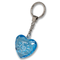 Lefty's logo heartshaped key ring