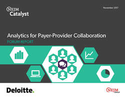 Analytics for Payer-Provider Collaboration Forum Report