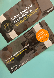 """Direct Mailer that reads, """"What counts is accessibility. Because what matters is being able to access healthcare regardless of physical condition. You're the ultimate service industry. Let us help you live up to that."""""""