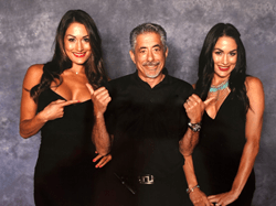 The Bella Twins(TM) with Fandemic CEO, John Macaulso - they will appear at Fandemic Tour's Sacramento show, June 22-24, 2018.