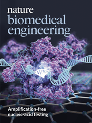 CRISPR-Chip on the cover of Nature Biomedical Engineering's June 2019 Issue