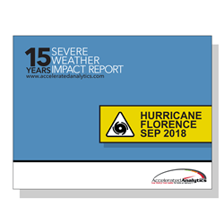 EDI 852 & POS data specialists Accelerated Analytics release new series of Severe Weather Impact reports for retail industry insiders. A review of 2018's Hurricane Florence launches the series.