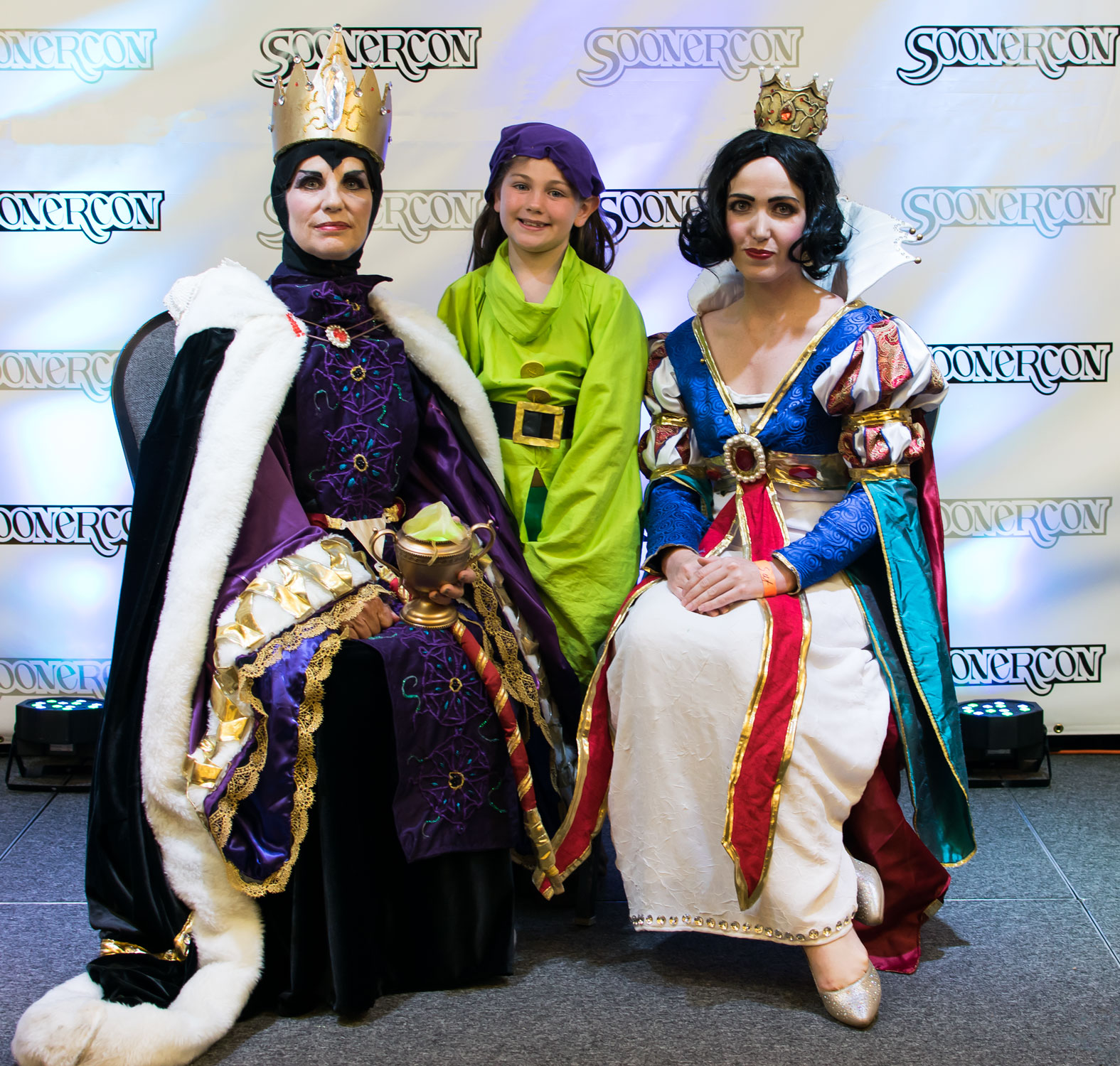 """Snow White, Evil Queen & Dopey"" by Hikaru and Athena Star SoonerCon 24 Best of Show"