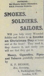 1914 WW1 week 19 smokes